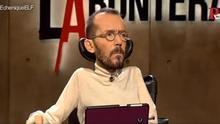 Pablo Echenique, secretario de Organización de Podemos, en el programa 'En la Frontera'