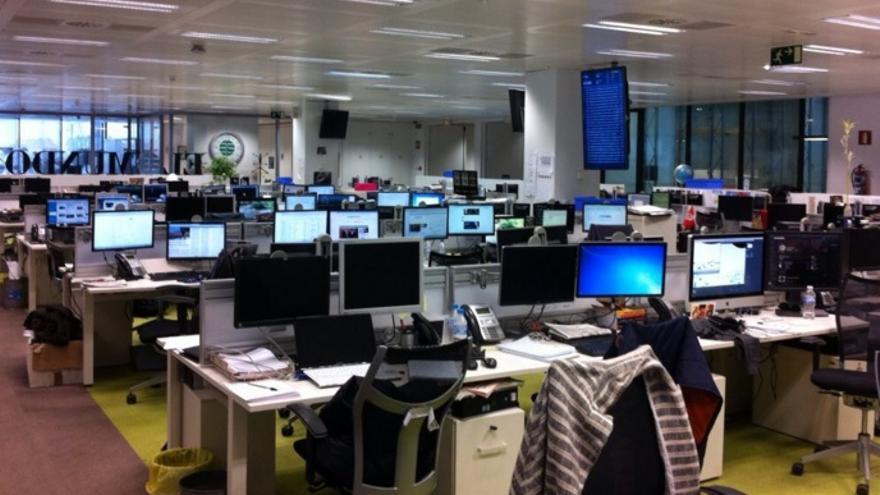 Parte de la redacción de El Mundo en Madrid. / @fboiza