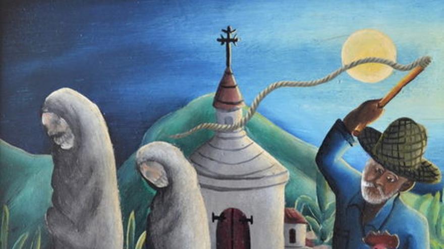 """El cuadro """"Tres zombis"""" del artista haitiano Wilson Bigaud pintado en 1953"""