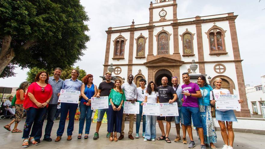 Entrega de la recaudación del Festival BioAgaete.