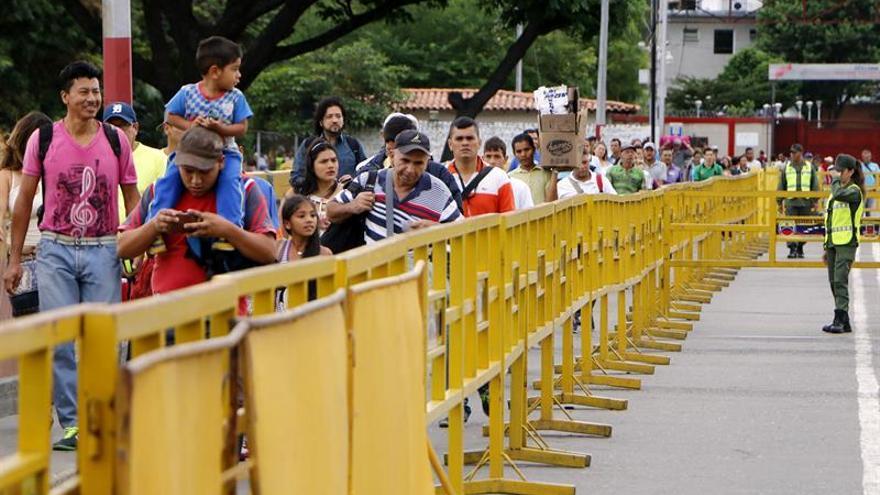 Imagen de archivo. Vista del puente internacional Simón Bolívar en la ciudad colombiana de Cúcuta, principal paso fronterizo con Venezuela.