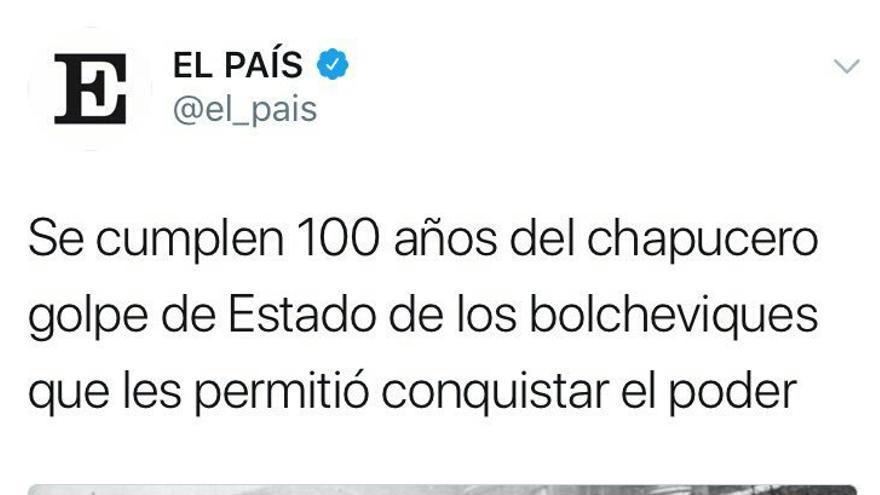 Captura del Twitter de El País