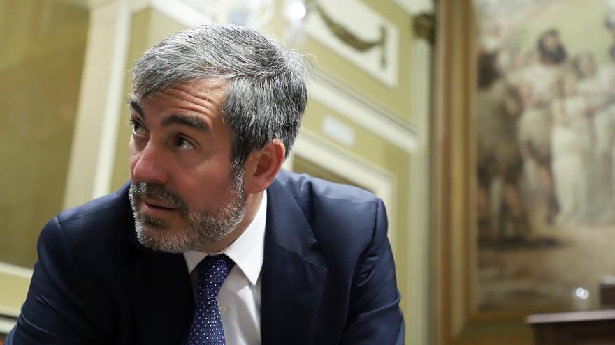 Fernando Clavijo, en una foto reciente en el Parlamento de Canarias