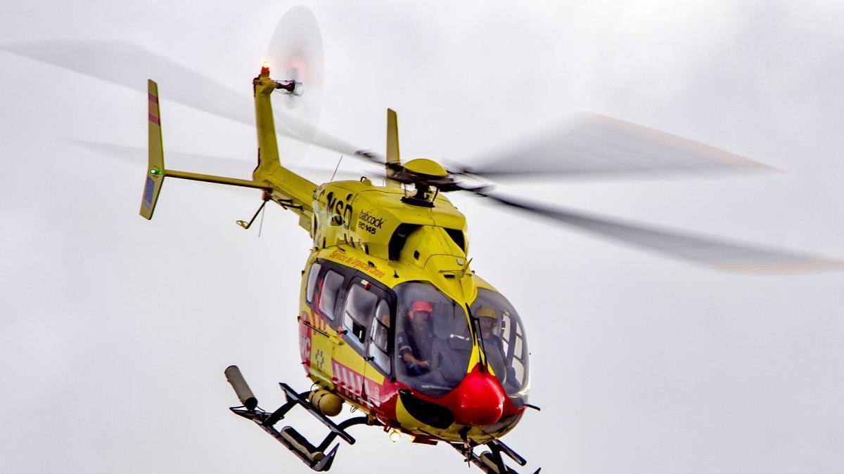 Traslado de la menor en helicóptero al Hospital Insular Materno Infantil de Gran Canaria.