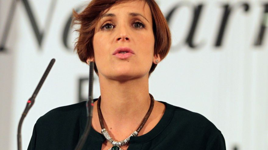 La dirigente del PSN y candidata a la Presidencia de Navarra, María Chivite.