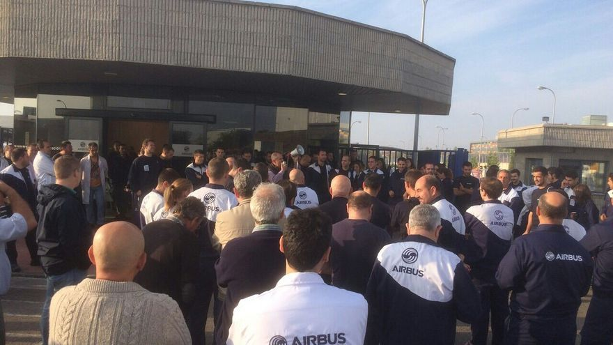 Concentración en Airbús Illescas (Toledo)