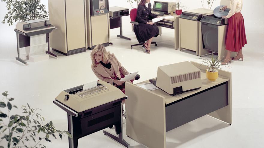 El Datapoint 5500 era un sistema completo planeado para la oficina