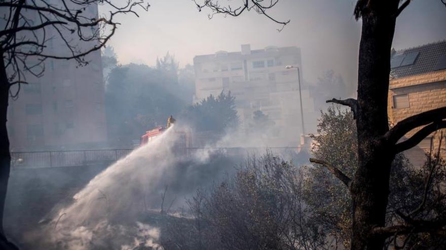 Israel combate una cadena de incendios en el país con ayuda de sus vecinos