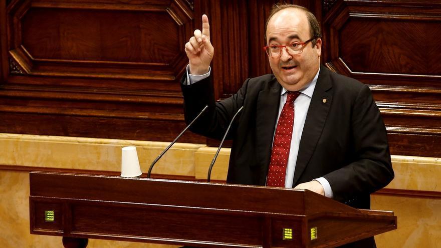 El presidente del grupo parlamentario de Socialistes - Units per avançar, Miquel Iceta.