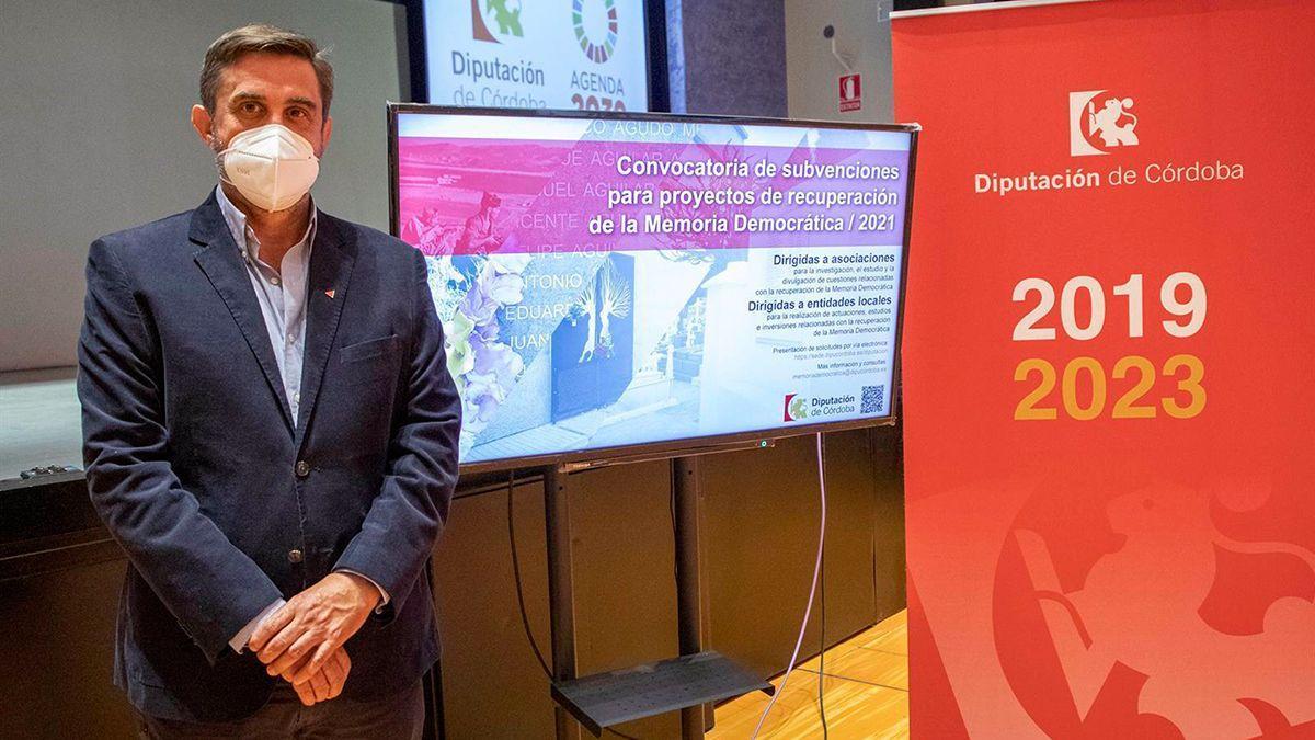 Ramón Hernández en la Diputación.