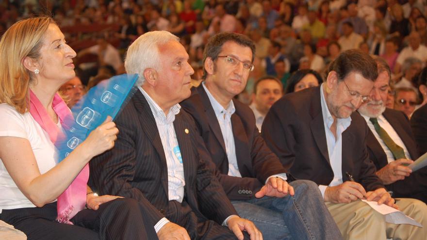 Baltar, en un mitin con Pastor, Feijóo, Rajoy y Mayor Oreja / PPdeG