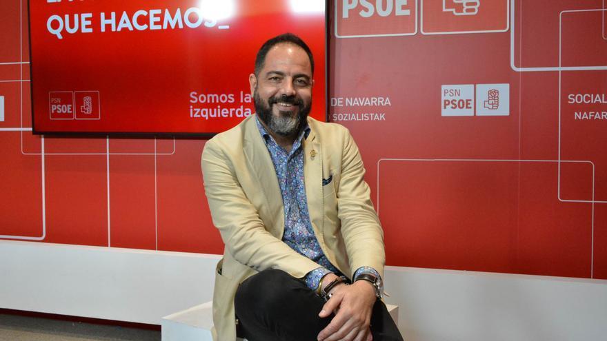 El portavoz del PSN en el Parlamento de Navarra, Ramón Alzórriz