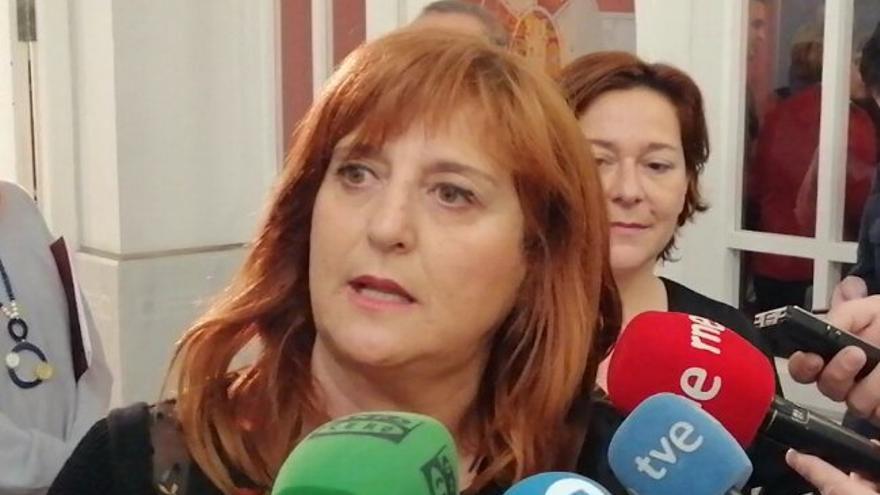La portavoz del grupo municipal de Unidas Podemos IU Equo, Pilar Marcos