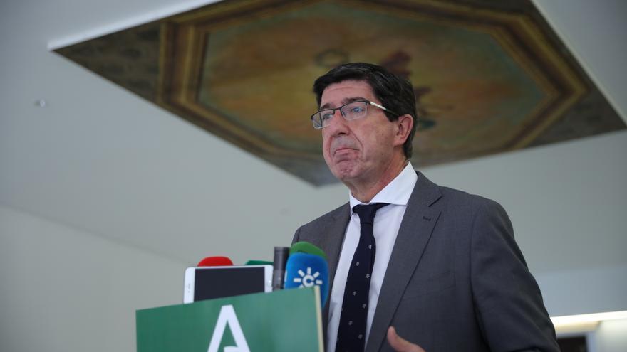 El vicepresidente de la Junta de Andalucía y consejero de Turismo, Regeneración, Justicia y Administración Local, Juan Marín, en una foto de archivo.