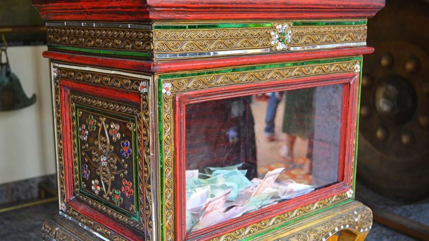 Las cajas fuertes albergan los donativos que recibe el templo. (Cedida a Canarias Ahora).
