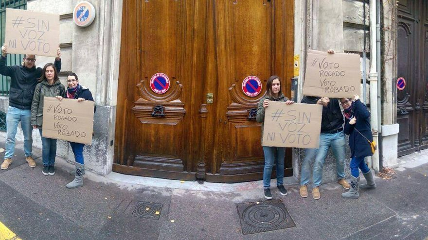 Protesta contra el voto rogado en Marsella el pasado 20 de diciembre.