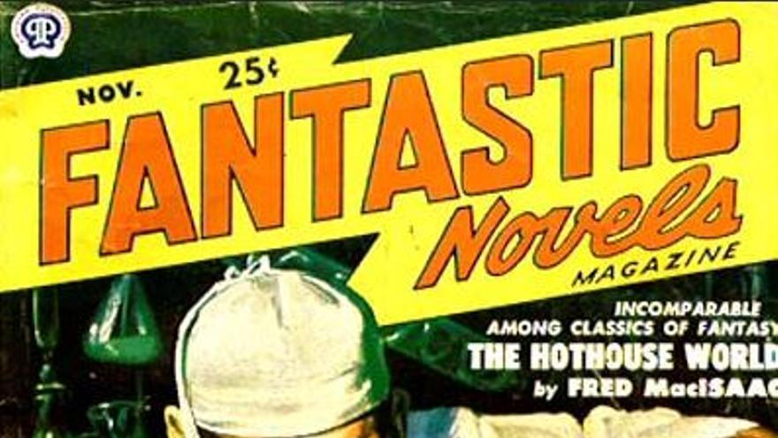 """Portada del magazine """"Fantastic novels"""", con ilustración De Soto, de noviembre 1950."""