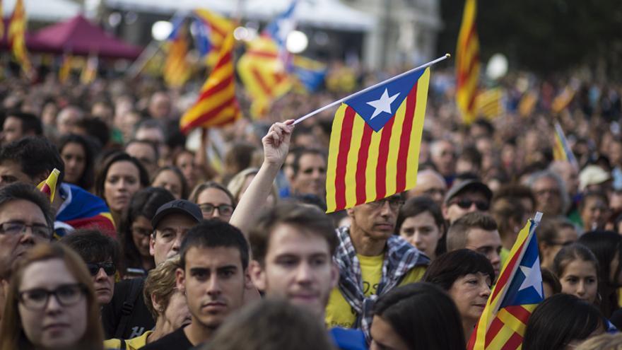 Manifestación por la independencia de Catalunya