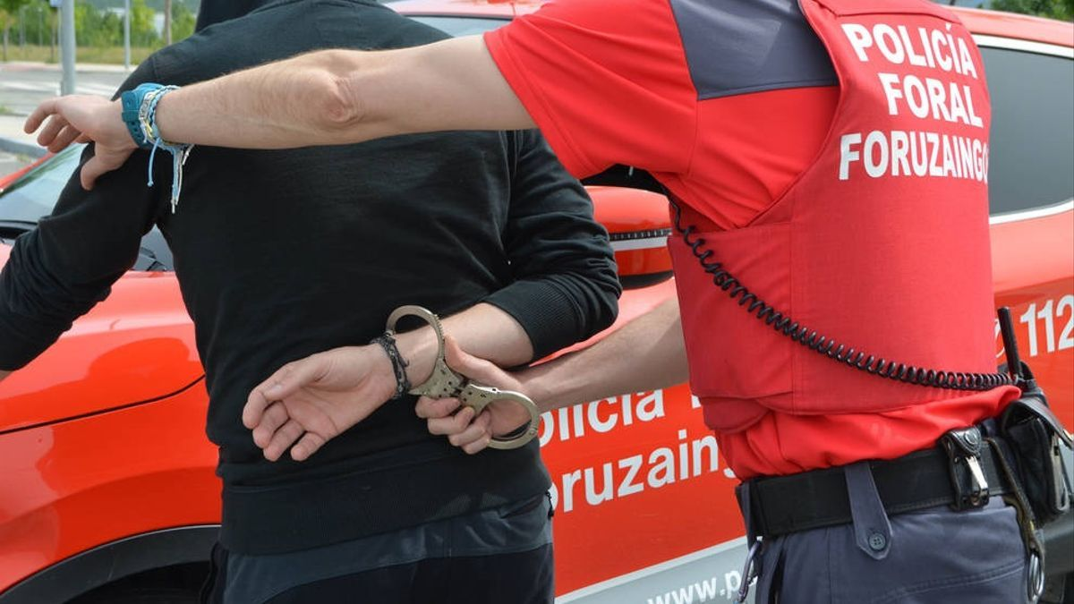 La Policía Foral de Navarra durante una detención este fin de semana