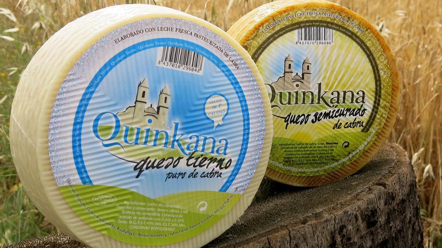 Los quesos galardonados en el certamen nacional.