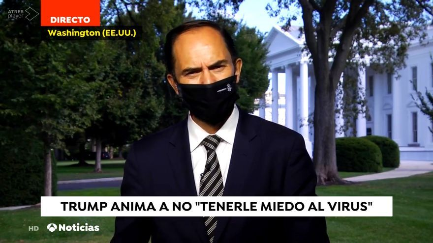 José Ángel Abad informando desde la Casa Blanca este martes 6 de octubre