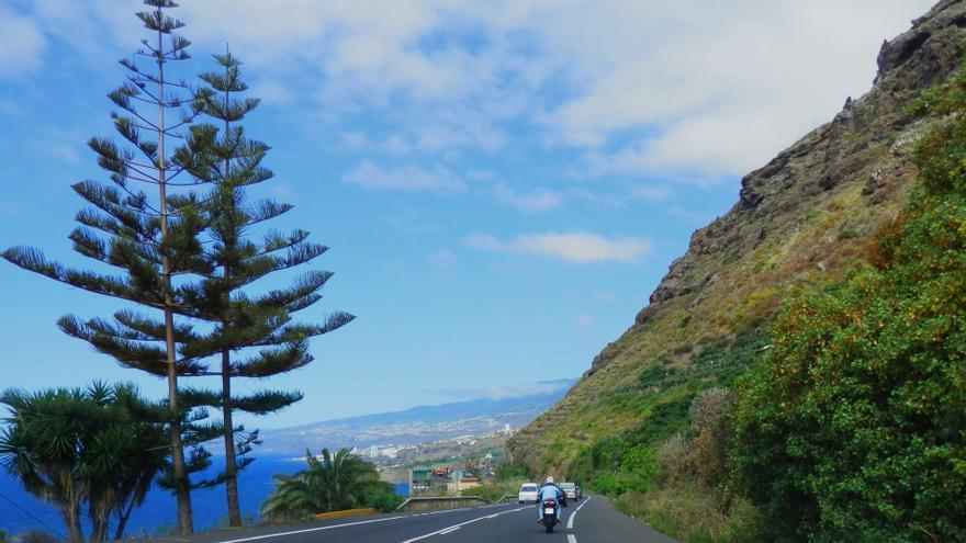 Imagen de archivo de parte del tramo Los Realejos-San Juan de la Rambla