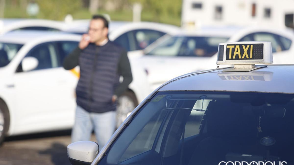 Concentración de taxistas  | ÁLEX GALLEGOS
