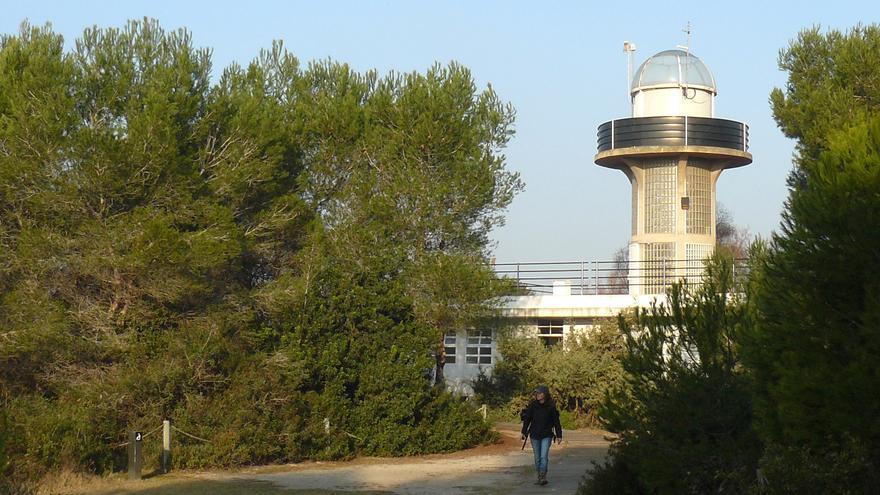 La torre mirador del centro de interpretación del Pac Natural de l'Albufera, situada en el Racó de l'Olla, está cerrada desde hace un año por un problema en la barandilla de la escalera.