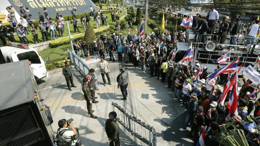 Inician cuatro días de manifestaciones en Bangkok para detener las elecciones
