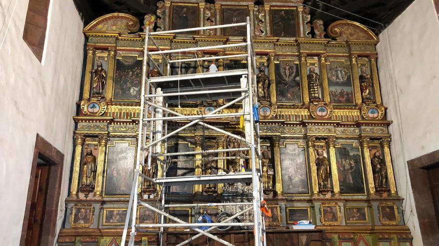Retablo Mayor de la Iglesia de La Candelaria.