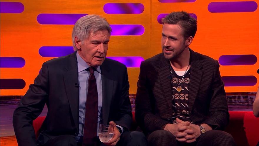 Harrison Ford olvida el nombre de Ryan Gosling en plena entrevista en BBC