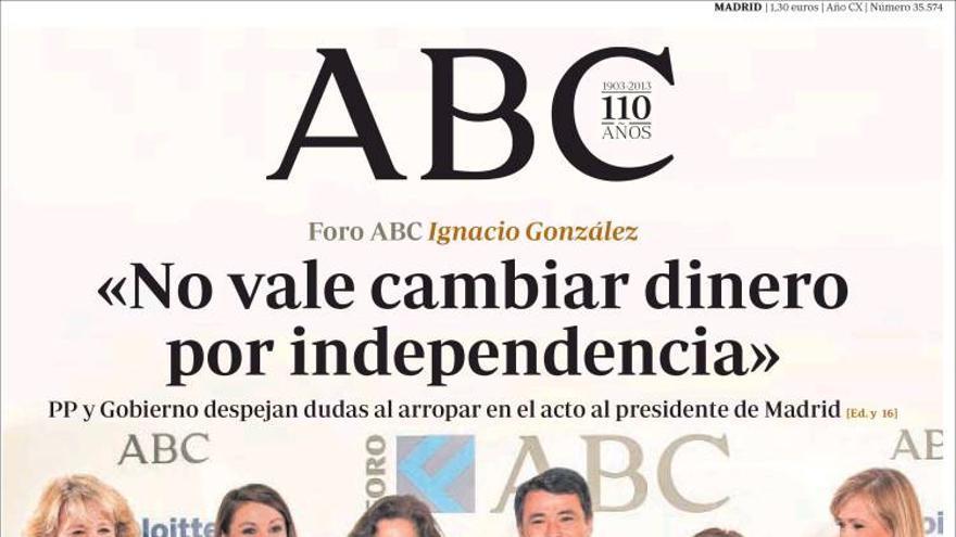 2013, apoyando a Ignacio González