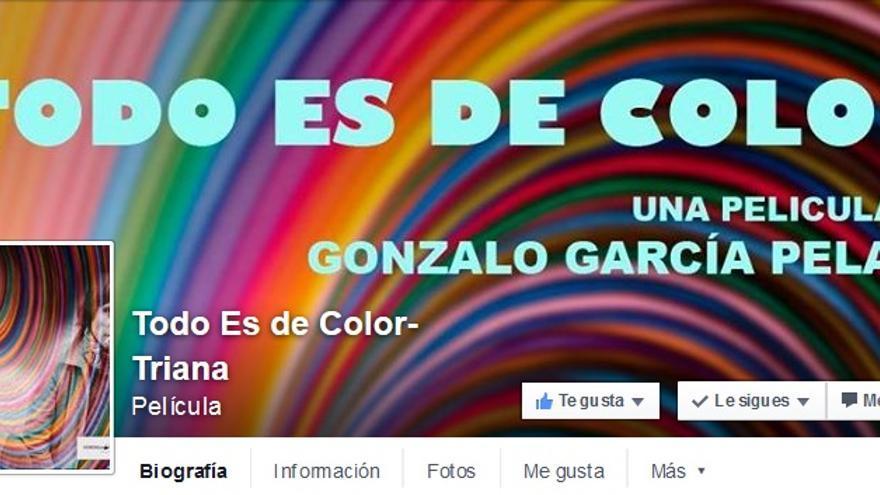 Página de Facebook de la película 'Todo es de color'