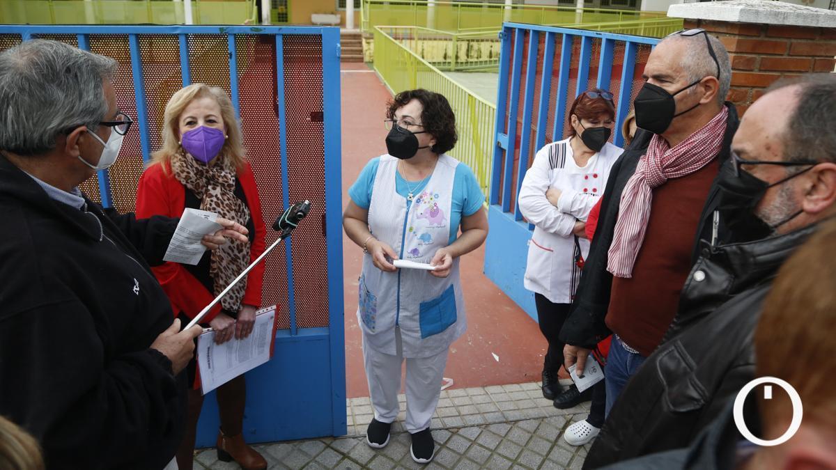 Protesta de los trabajadoras de la Escuela Infantil Azahara