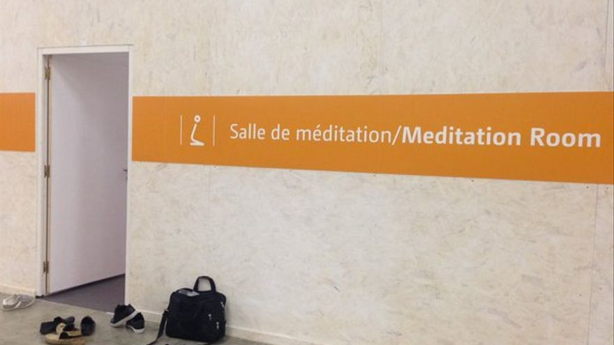 Salas de meditación de la cumbre de París.