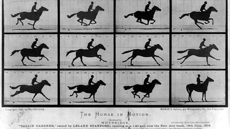 Serie de fotografías tomadas por EadWeard Muybridge, 1878
