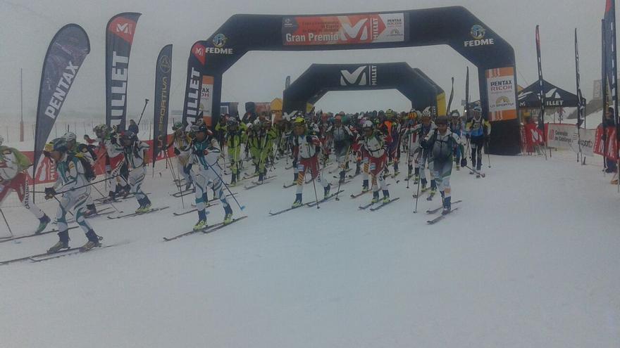 Salida del Campeonato de España por equipos en Val d'Aran.