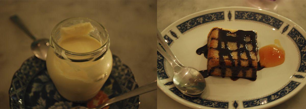 Díptico brownie de chocolate blanco y crema de jengibre_Malasaña a mordiscos_Muy placer en conserva
