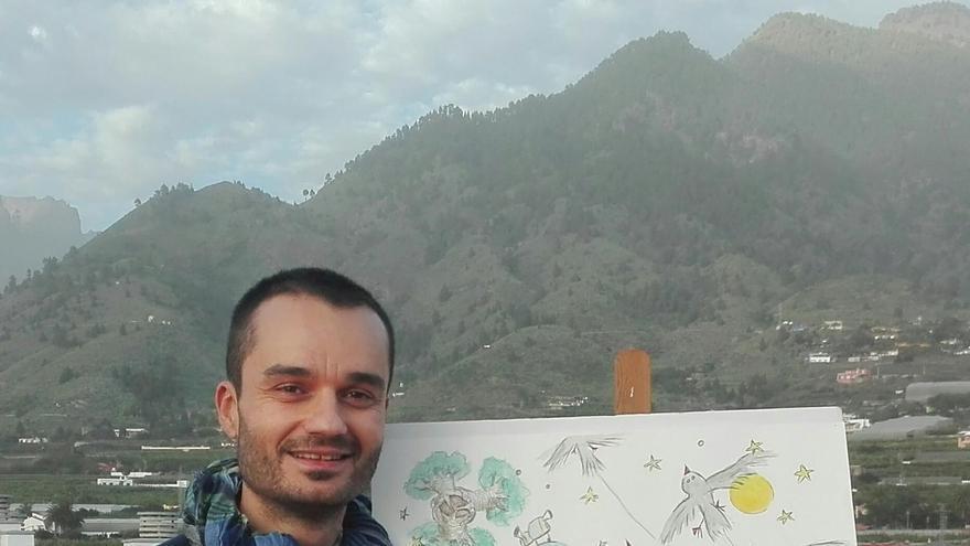 El cartel creado por el artista palmero Jorge Miranda convierte a La Palma y a sus municipios en los mundos imaginarios por los que 'El Principito' realizará rodajes de cine.