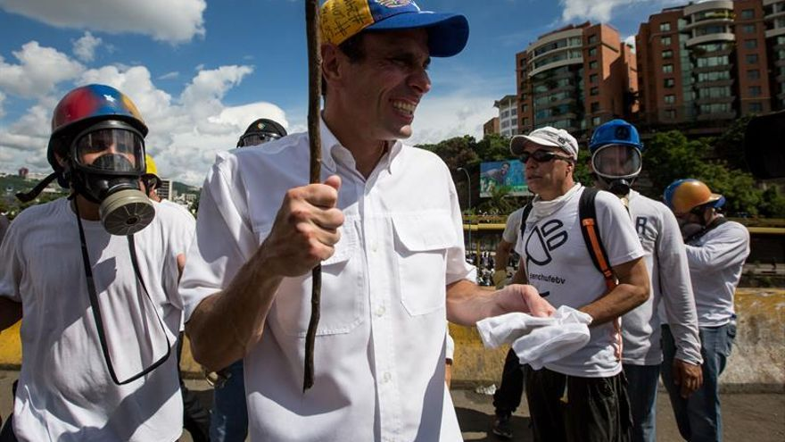Capriles denuncia que el Gobierno venezolano planea allanamientos para evitar marcha