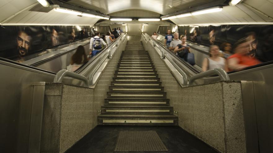 La estación de metro de Gran Vía no está adaptada para perdona con movilidad reducida