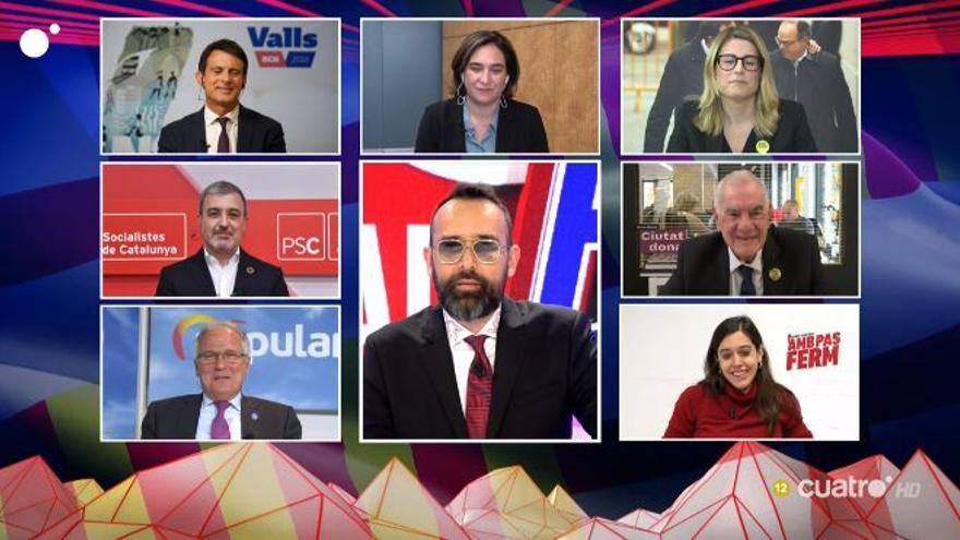Mejide ha moderado un debate electoral con unos candidatos que estaban en Barcelona