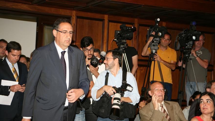 El portavoz del Partido Popular en el Cabildo de Gran Canaria, Felipe Afonso El Jaber.