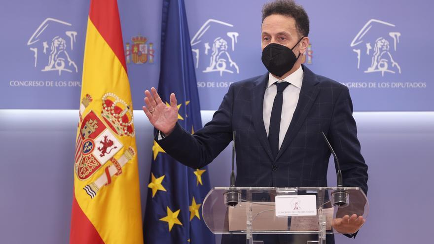 El portavoz adjunto de Ciudadanos en el Congreso de los Diputados, Edmundo Bal, en una rueda de prensa posterior aen la Cámara Baja.