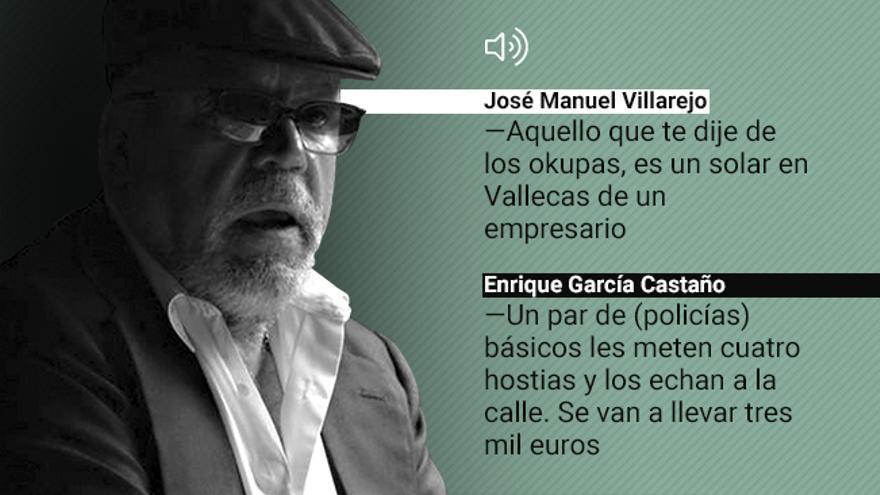 Conversación grabada por Villarejo con el también comisario Enrique García Castaño