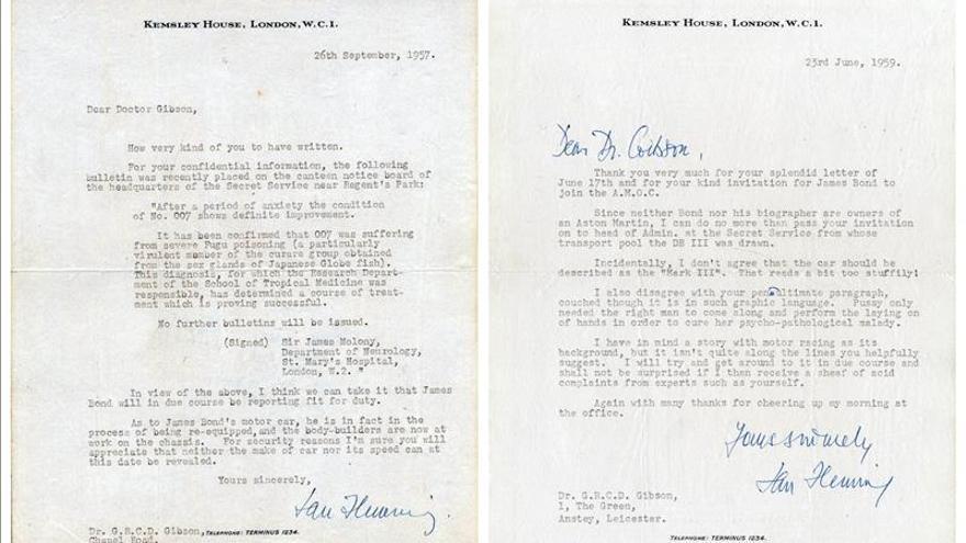 Subastan carta en la que Ian Fleming anticipó una historia actual de 007