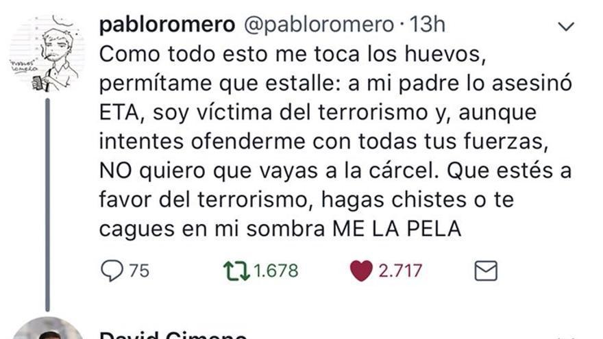 El tuit de David Gimeno.