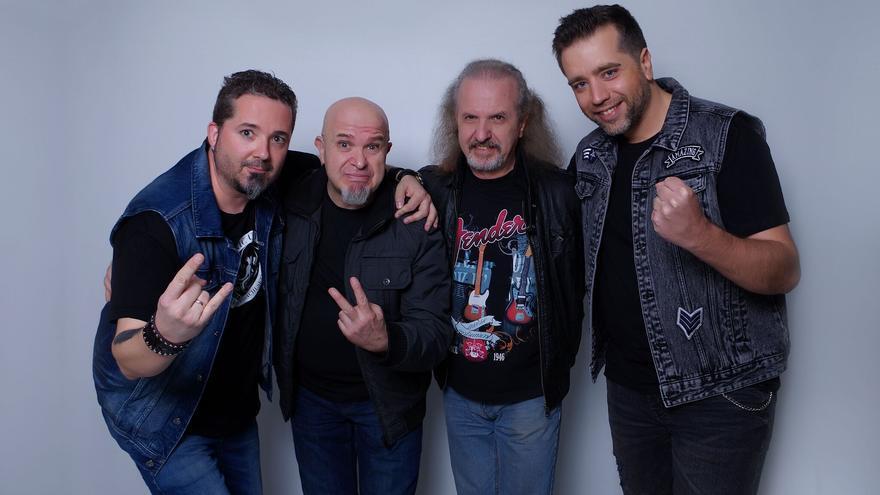 Rafa Díaz, Carlos de Castro, Armando de Castro y Javier Rodríguez, miembros actuales de Barón Rojo.