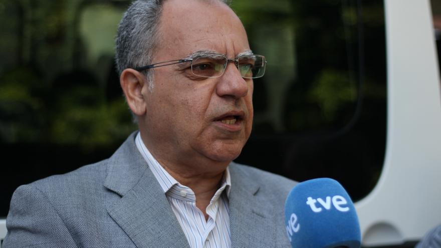 El presidente del Cabildo, Casimiro Curbelo