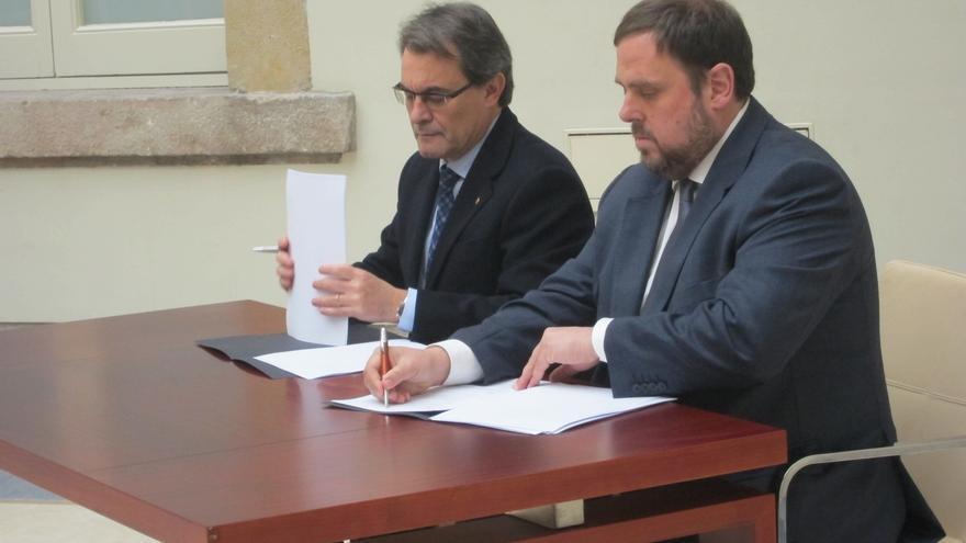 CiU y ERC ultiman su declaración de soberanía con gestos hacia el resto de fuerzas